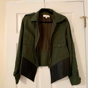 Military Green Collared Jacket